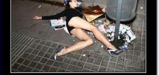 пьяная девушка валяется возле урны пятница отдыхай по-королевски