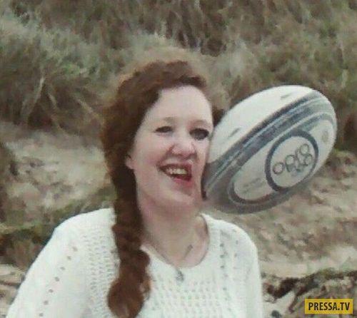 мяч в лицо