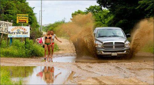 машина грязь девушки