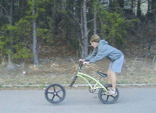 велосипед развалился