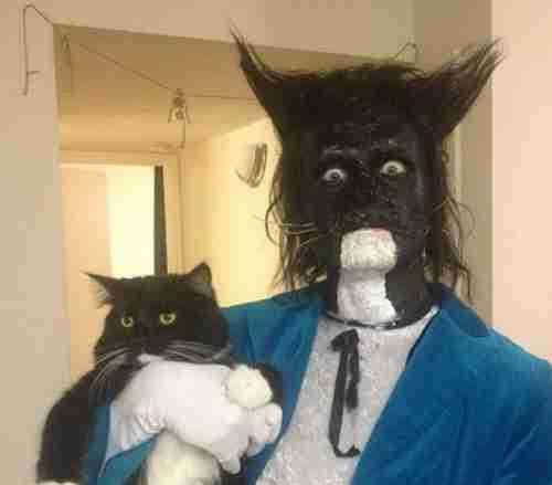 человек в образе кота